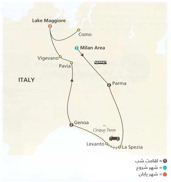 تصویر معرفی تور ایتالیا – میلان به ماگیور