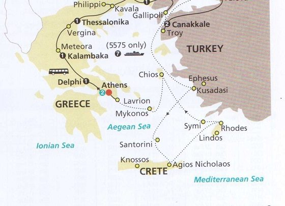 مسیر گردشگردی در ترکیه