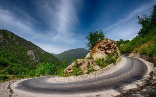 عکس جاده توسکستان